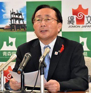 羽越新幹線構想 知事、姿勢明言せず
