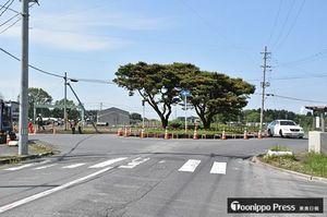 整備が進んでいる「環状交差点」。8月下旬の供用開始を予定している=八戸市河原木八太郎山官地