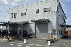 民間会社が7月以降に鯨体処理場として使用する施設。現在は調査捕鯨による鯨類科学調査が行われている=22日、八戸市白銀町