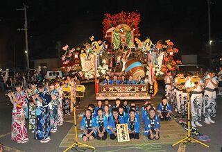 8町会が祭り囃子の競演/東北町秋まつり