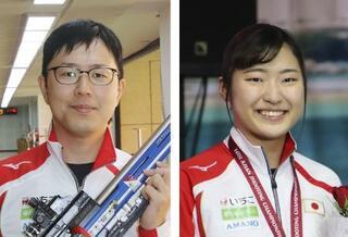 射撃の松本と平田、五輪代表維持