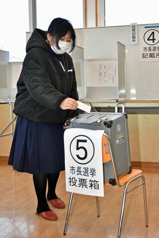 高校に移動式期日前投票所/十和田市長選