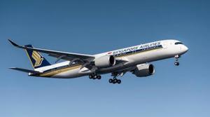 シンガポール航空のエアバスA350(シンガポール航空提供・共同)