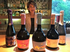 モルドバから初輸入したスパークリングワインの販路拡大を目指す吉田GM