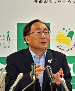 青森県国スポ、「完全国体求める」と三村知事