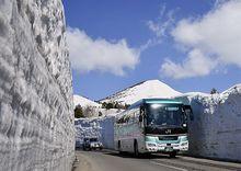 「雪の回廊」縫って 十和田湖へ一番バス