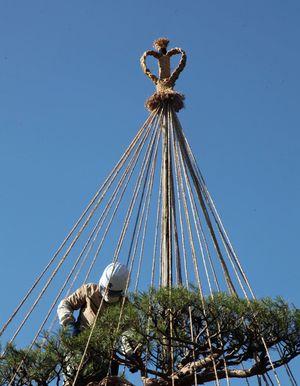 弘前公園など特定の場所でしか使われないデザインの「頭飾り」