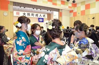 福島・大熊町で10年ぶり成人式