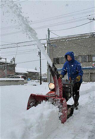 青森県内で積雪、野辺地23センチ