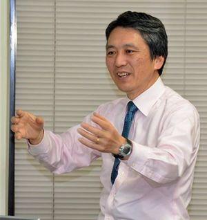 地震に対する備えの大切さを訴える片岡教授