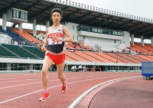 女子3000メートルにオープン参加し、8分58秒54だった田中希実=岐阜長良川競技場