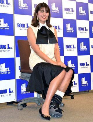 左足首骨折の稲村亜美、手術直前にイベント「驚異的な回復力を見せたい」