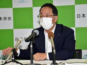 設工認審査の現状を説明する増田社長