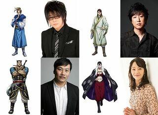 『キングダム』新キャスト発表 森川智之、内田夕夜、田中美央、田中敦子が出演