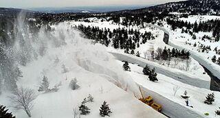 雪しぶき豪快、ゴールドライン