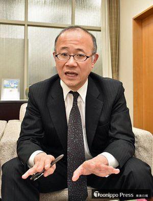 青森県の景気状況を語る武田支店長