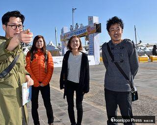 青森県3選手武者震い/済州マラソンコース下見