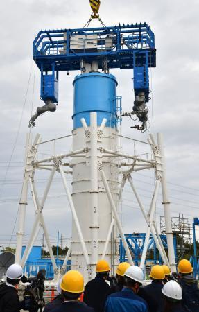 福島第1、排気筒撤去の試験公開