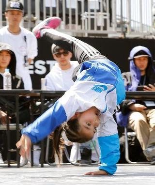 五輪候補のブレークダンスに歓声