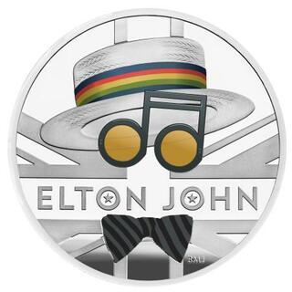 エルトン・ジョンさん記念硬貨に