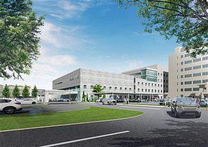 新中核病院の外観イメージ(独立行政法人国立病院機構提供)