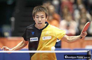 男子シングルス5回戦で敗退した丹羽孝希