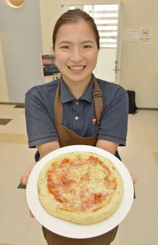 西目屋、イタリアとの友好表すピザ