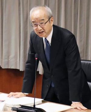 有識者会議であいさつする委員長の深尾精一首都大学東京名誉教授=9日午後、国交省