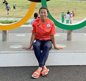 東京五輪のボート競技で日本代表コーチを務めた吉田さん(本人提供)