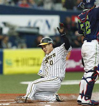 木浪 劣勢打開の出塁/プロ野球 阪神