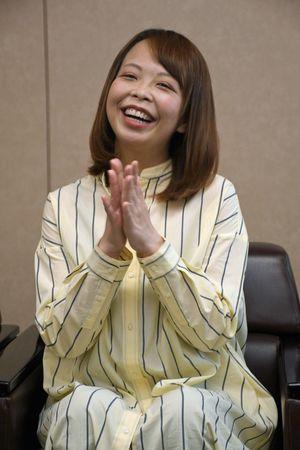 「旦那には『青森は食べ物がおいしいよ』と話して東京から引っ張ってきた」と話す高坂