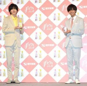 (左から)道枝駿佑、永瀬廉 (C)ORICON NewS inc.