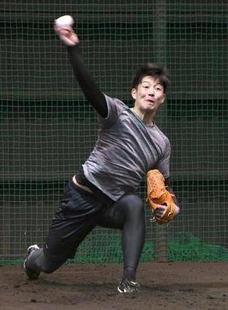 日本ハム、吉田輝が初ブルペン