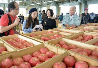 香港メディアがリンゴ取材