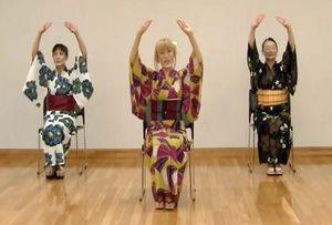 ジャズ盆踊りの動画。スタンダードナンバー「LOVE」の座り踊り