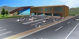 東北電力が東通村に建設を予定している立地地域事務所の完成予想図(同社提供)