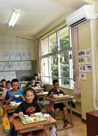 涼しく「授業に集中」、教室にエアコン完備/七戸町内5小中学校