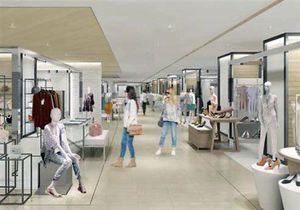 30日から常設のアウトレットフロアを展開する中三弘前店の、レディースフロアとなる5階のイメージ(中三提供)