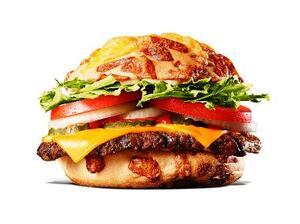 バーガーキング店舗で発売した「チーズアグリービーフバーガー」