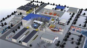 基本設計で示された核融合原型炉プラントの完成予想図(量子科学技術研究開発機構提供)