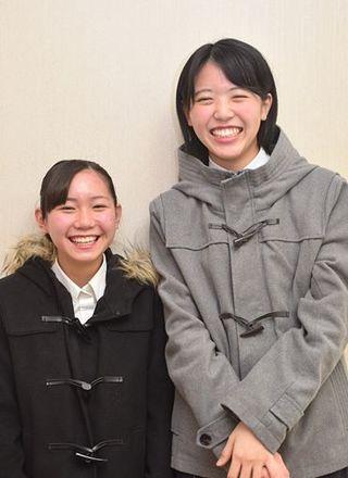 【連載】りんご娘彩香 足して2で割る/ほんわかな176センチ、心の支えは真逆な性格・身長の親友太田さん