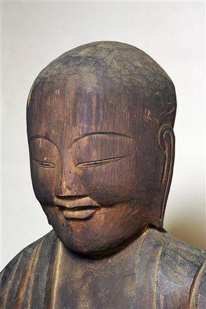 西福寺(弘前市新寺町)が所蔵する円空作地蔵菩薩立像=須藤名誉教授提供