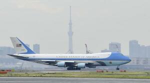 米大統領専用機エアフォースワン=2019年5月