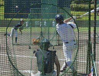 智弁学園投手攻略へ打撃練習に重点 甲子園の光星ナイン
