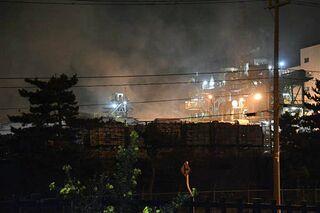 廃棄物処理工場焼く けが人なし/八戸・東京鐵鋼