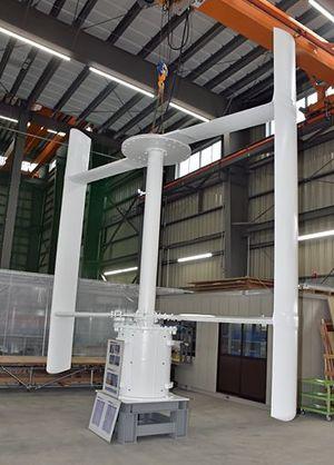 製造が進む出力6キロワットの風力発電システムの翼部分