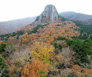 紅葉から冬支度へ 縫道石山の空からの眺め
