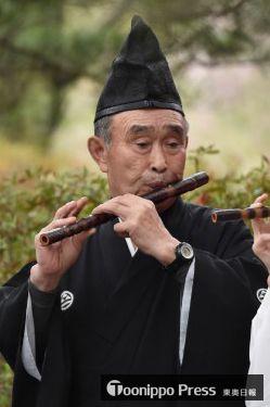 田子神楽の「大師匠」の1人である、川守田さんの祖父・釜渕さん