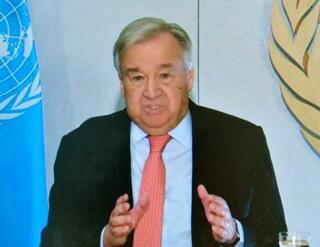 国連グテレス総長、結束訴え
