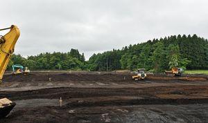 肉牛繁殖用施設の建設予定地周辺=29日、十和田市相坂高清水